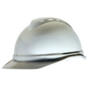 MSA Advance Cap Style Hard Hat with 4-point Fas-Trac Suspension - White