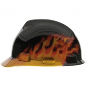 MSA Fas-Trac Suspension Hard Hat- Black Fire