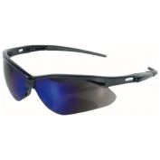 Nemesis Safety Glasses - Black Frame - Blue Mirror Lens