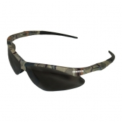 Nemesis Safety Glasses - Camo Frame - Smoke Anti-Fog Lens