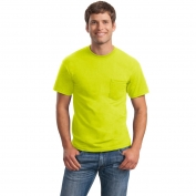 Gildan 2300 Ultra Cotton T-Shirt with Pocket - Safety Green