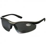 Bouton 250-25-01 MAG Readers Safety Glasses - Black Frame - Gray Bifocal Lens