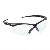 Nemesis RX Bifocal Safety Glasses - Black Frame - Clear Lens