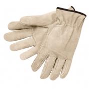 Memphis 3100 Split Cowhide Leather Drivers Gloves - Natural