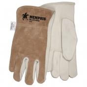 Memphis 3204 Premium Grade Grain Cowhide Leather Drivers Gloves - Brown