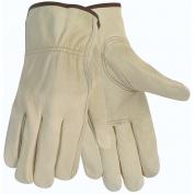 Memphis 3215 Economy Grade Grain Cowhide Leather Drivers Gloves - Keystone Thumb - Natural