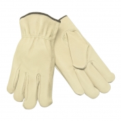Memphis 3401 Industry Grade Grain Pigskin Leather Drivers Gloves - Keystone Thumb - Natural
