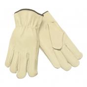 Memphis 3411 Premium Grade Grain Pigskin Leather Driver Gloves - Keystone Thumb - Natural