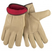 Memphis 3450 Premium Grade Grain Pigskin Leather Driver Gloves - Fleece Lined - Natural