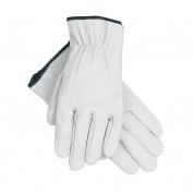 Memphis 3601 Premium Grade Grain Goatskin Leather Driver Gloves - Straight Thumb - White