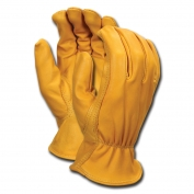 Memphis 3620 Select Grade Grain Goatskin Leather Driver Gloves - Keystone Thumb - Yellow