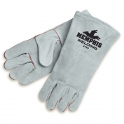 Memphis 4150 Premium Select Shoulder Cow Leather Welder Gloves - Gray