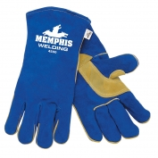 Memphis 4500 Blue Premium Select Shoulder Leather - Welder Gloves - Sewn with Kevlar - Blue