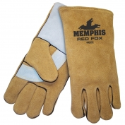 Memphis 4622 Red Fox Select Side Split Leather - Welders Gloves - Foam Lined - Brown