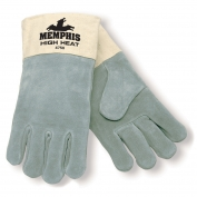 Memphis 4750 High Heat Select Side Leather - Welders Gloves - Duck Cuff - Gray