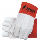 Memphis 4800 Red Ram Soft Grain Goatskin Leather - Fingerless MIG/TIG Welders Gloves - White