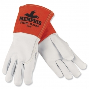 Memphis 4840 Red Ram Premium Grain Goatskin Leather - MIG/TIG Welders Gloves - White