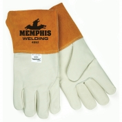 Memphis 4952 Select Grade Grain Cowhide Leather - MIG/TIG Welders Gloves - Brown
