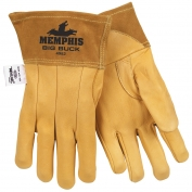 Memphis 4982 Big Buck Premium Grain Deerskin Leather - MIG/TIG Welders Gloves - Yellow