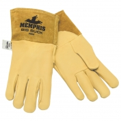 Memphis 4984 Big Buck Premium Grain Deerskin Leather - MIG/TIG Welders Gloves - Yellow