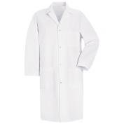 Red Kap Men\\\'s Four Snap Front Lab Coat - White