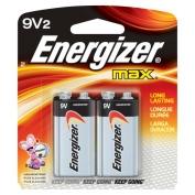 9 Volt Energizer Batteries, Max Line, 2-pack