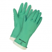 Memphis 5319 Nitri-Chem Unsupported Nitrile Gloves - Flock Lined - Green - 15 mil