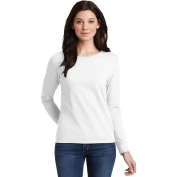 Gildan 5400L Ladies Heavy Cotton Long Sleeve T-Shirt - White