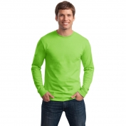 Hanes 5586 Tagless Cotton Long Sleeve T-Shirt - Lime