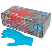 Memphis 6015 Nitrishield Disposable Nitrile Industrial Grade Gloves - Powder Free - Blue - 4 mil