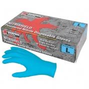 Memphis 6025 Nitrishield Disposable Nitrile Industrial Grade Gloves - Powdered - Blue - 8 mil