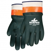 Memphis Oil Hauler Gloves - Green/Orange