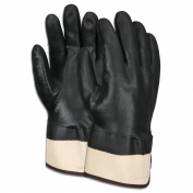 Memphis Double Dipped PVC Gloves - Black