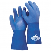 Memphis 6632 Bluecoat Triple Dip PVC Gloves - Blue - 12 inch