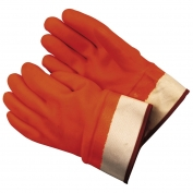 Memphis Gloves Foam Lined PVC Gloves - Safety Cuff