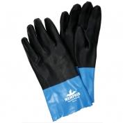 Memphis 6962 Duoprene Double Dip Neoprene Gloves - Interlock Lined - Black/Blue - 12 Inch