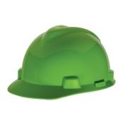 MSA 815558 V-Gard Hard Hat - Staz-On Suspension - Bright Green