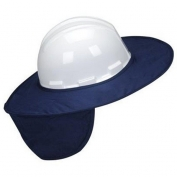 MiraCool Stow-Away Hard Hat Neck Shade - Navy