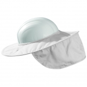 MiraCool Stow-Away Hard Hat Neck Shade - White