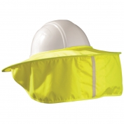 MiraCool Stow-Away Hard Hat Neck Shade - Hi-Viz Yellow
