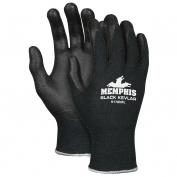 Memphis Black Kevlar Gloves - 13 Gauge Kevlar Shell - Nitrile Foam Coated Palm - Black