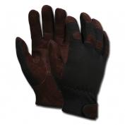 Memphis 920 Multi-Task Gloves - Brown Economy Leather Palm - Black Spandex Back