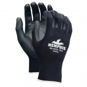 Memphis 96699 Economy PU Coated Gloves - 13 Gauge 100% Polyester Shell - Black