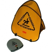 Rubbermaid Folding Safety Cone with Multi-Lingual \\\