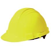 North A59 Peak Hard Hat - Plastic Suspension with Pinlock Adjustment - Yellow
