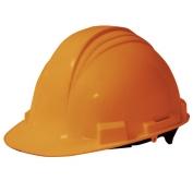 North A59 Peak Hard Hat - Plastic Suspension with Pinlock Adjustment - Orange