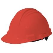 North A59 Peak Hard Hat - Plastic Suspension with Pinlock Adjustment - Red