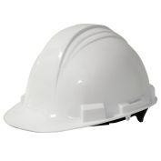 North A59R Peak Hard Hat - Plastic Suspension with Ratchet Adjustment - White