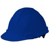 North A59R Peak Hard Hat - Plastic Suspension with Ratchet Adjustment - Royal Blue