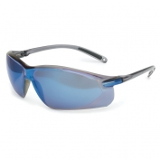 North A700 Series Safety Glasses - Gray Frame - Blue Mirror Lens